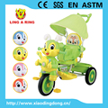 tricycle for baby 2017 popular bunny face children tricycle with music and light baby trike with push bar and canopy