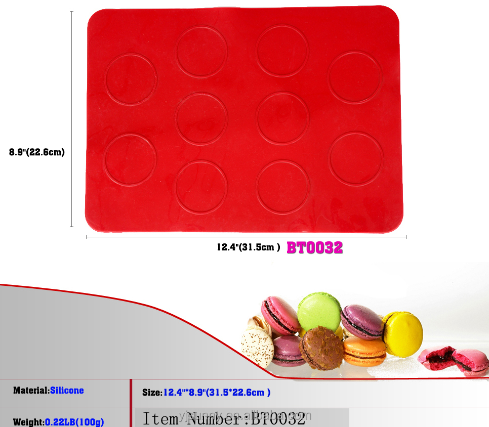 12.4 Inch Baking Kitchen Silicone Mats Fondant Mat BLINI MOULD Macaroons Mold Oven Baking Mould Sheet Mat DIY Mold 10-Cavity