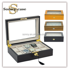 Top Quality 10 Slots Wooden Watch Boxes Cases for Watch Collector