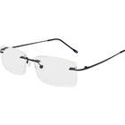 High quality brand new cheap rimless slim frame custom logo reading glasses