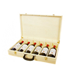 Hinged Wood Wine Bottle Wooden Box 6 Pack with Dividers Wine Packaging Box