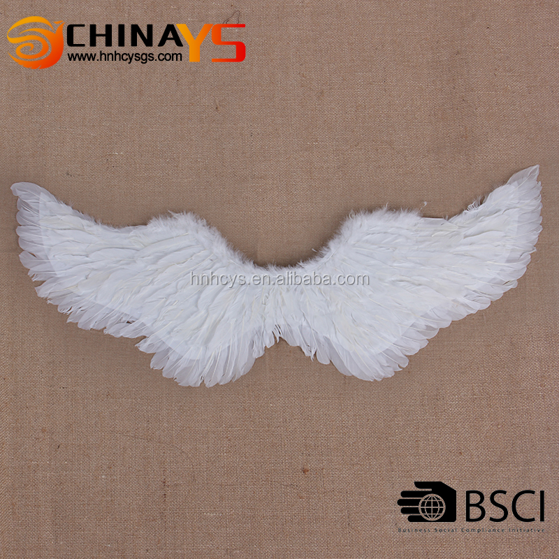BSCI factory supplier prime quality attractive white Swallow feather halloween angel wings