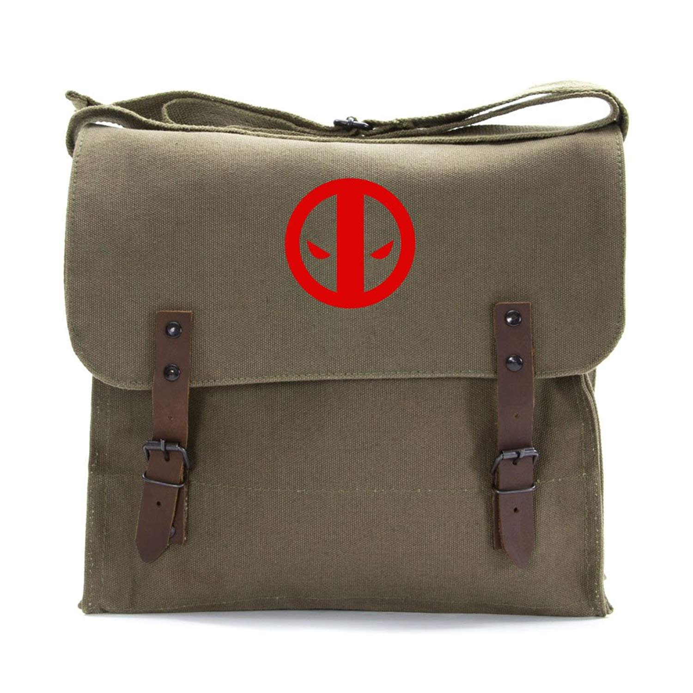 460f93f700 Get Quotations · Deadpool Logo Army Heavyweight Canvas Medic Shoulder Bag