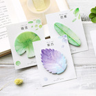 Korean Fancy Natural Plant Leaf Sticky Note Memo Pad Note Office Planner Sticker Paper Stationery School