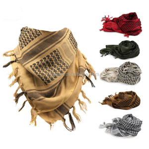 Fashion accessories scarves military magic square 100% cotton arabic outdoor shemagh for sale