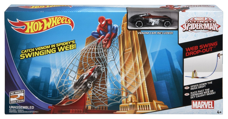 hotwheels marvel Ultimate Spiderman vs the Sinister 6 ultimate spiderman electro fandango car 1.64 scale model