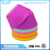 12 PACK BPA free eco-friendly Rainbow color silicone baking teacup cupcake kit set
