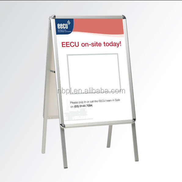 pavement shop sign 32mm aluminum profile poster display snap on A board