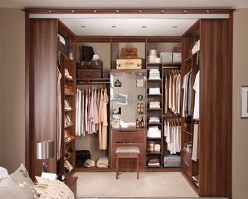 Merveilleux U Shaped Walk In Cabinet For Clothes With Dressing Table Design