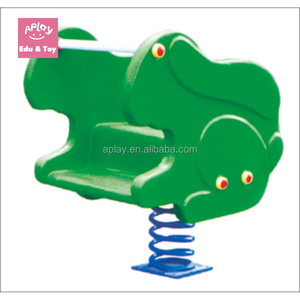 Bouncing horse toy kids outdoor playground frog spring rider