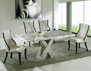 Modern House Kitchen Designs Marble Dinning Table