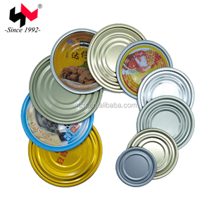 Tinplate tin can end lid