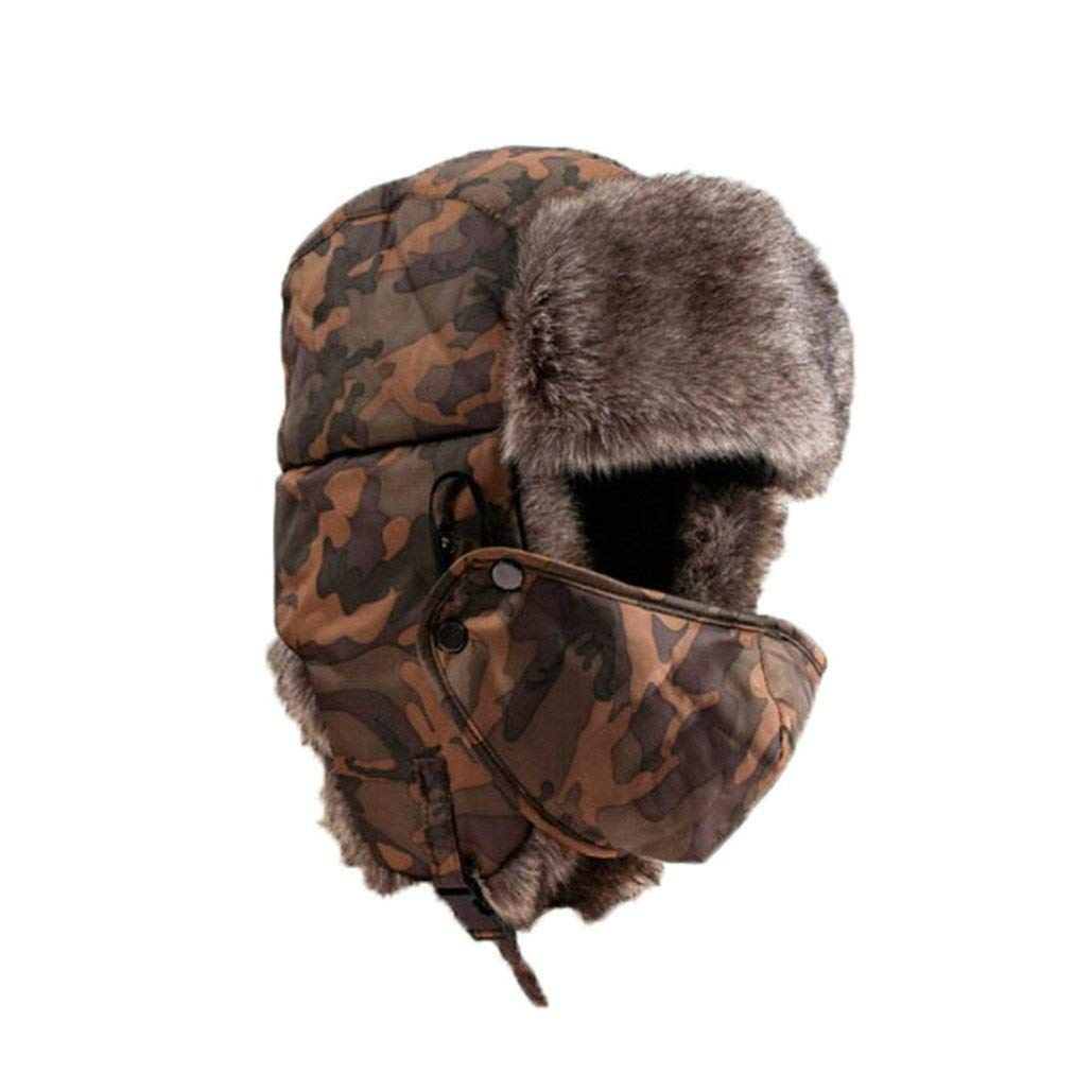 Tuscom Unisex Warm Soft Waterproof Camouflage Winter Hat Wind Mask Cold-proof Hat Cap