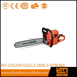 52CC High Quality petrol Chainsaw with CE/Komatsu model gasoline chainsaw