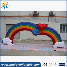 2016 hot popular inflatable rainbow arch, outdoor event inflatable arch rental
