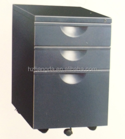 Mobile pedestal/Movable grey kitchen cabinet/Office mobile cabinet