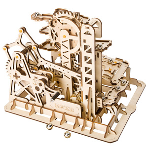 Robotime LG504 Self Assembly DIY Wood 3D Puzzle Mechanical Gear
