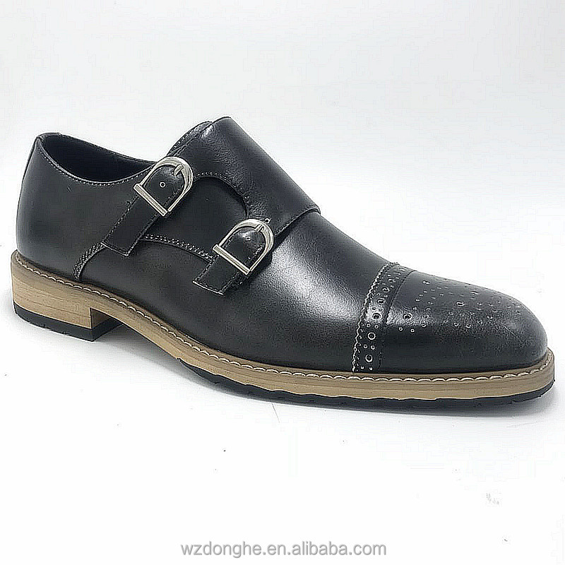 Italian shoes for men dress sheos in fashion style with double monk strap