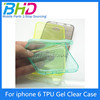"Ultra thin 0.3mm TPU Gel Clear Case Cover For iPhone6 plus Slim Phone silicone Cover for iphone 6 plus 5.5 "" Transparent case"
