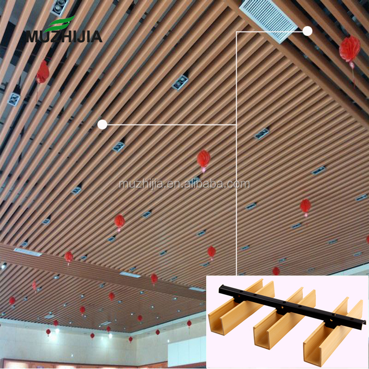 Modern Design Wpc Timber Strip False Wood Ceiling Panels For Suspended Ceiling And Engineeredceilingproject Buy Wpc Ceiling Wpc Ceiling