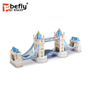 World architecture Gemini London Bridge 3d paper puzzle