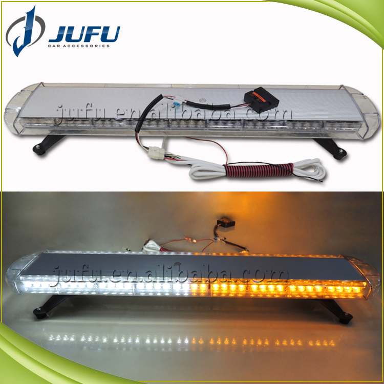 12V 24V 42 inch 80W LED white amber truck roof security LED light bar, led emergency strobe light bar