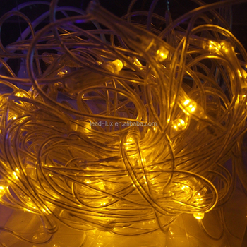 Durable Yellow Amber Christmas Decoration Light Stage Street Decor Led Fairy