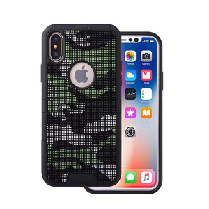 Anti Slip Combo TPU PC Phone Case For iphone x Wave point Cell Mobile smartphone cover For iphone x Case