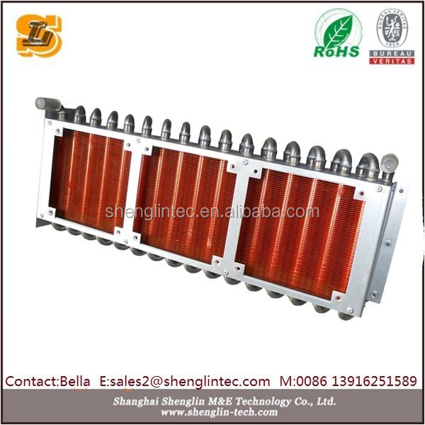 heat exchanger for wood fired water furnace system