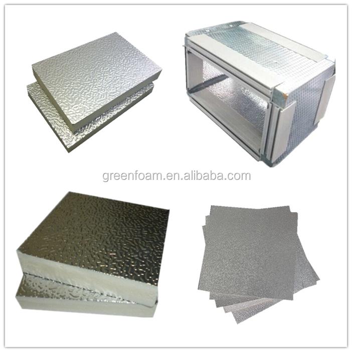 20mm Embossed Aluminum Foil Pir Sandwich Panels Hvac