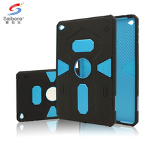 Shockproof hard pc and soft tpu double phone case for ipad mini 4 case back cover