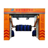 Rollover 5 Brushes Fully Automatic Car Wash Machine With Rail/Rail car washer