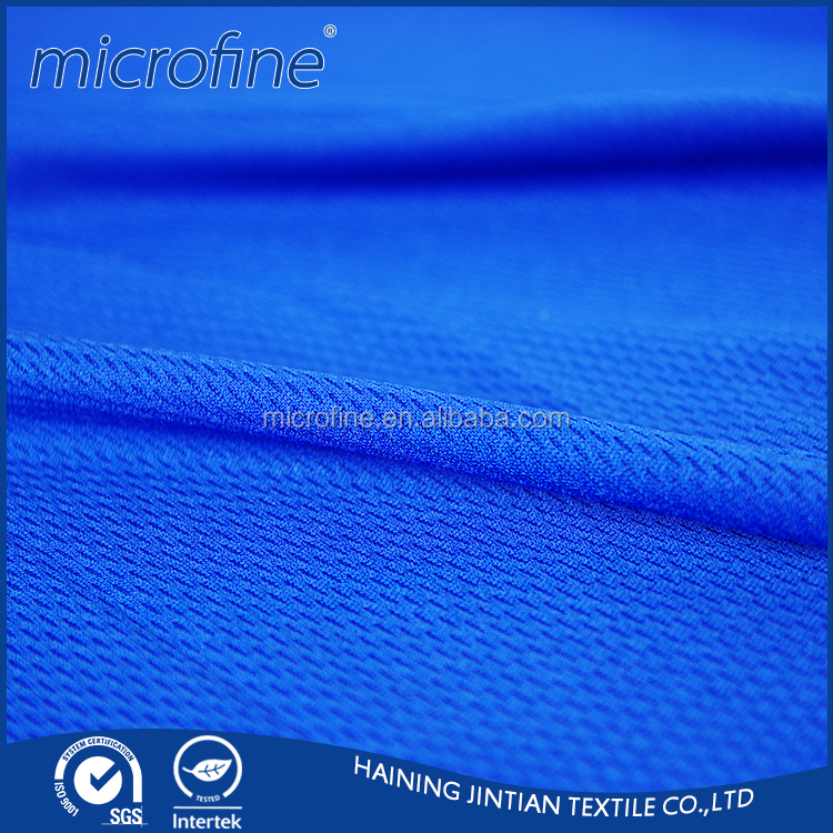 100% Polyester dry fit bird eye mesh fabric for sportwear