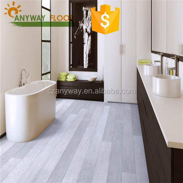 Click System White High Gloss Laminate Flooring With Fiber Gl