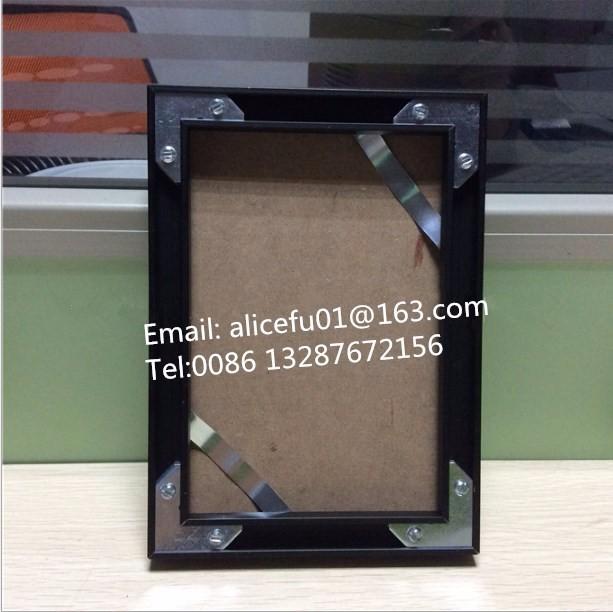 Negro mate y plata doble mate aluminio foto marco/marco del cartel ...