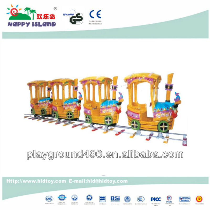 Outdoor playground equipment mini track train