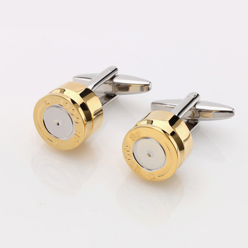 OB Jewelry-The Newest Round Shaped Antique Cufflinks Bulk Price 24K Gold Cufflinks From China