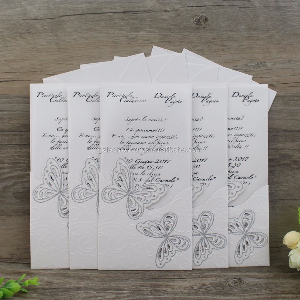 Butterfly Die Cut Wedding Invitation Cards, Butterfly Die Cut ...