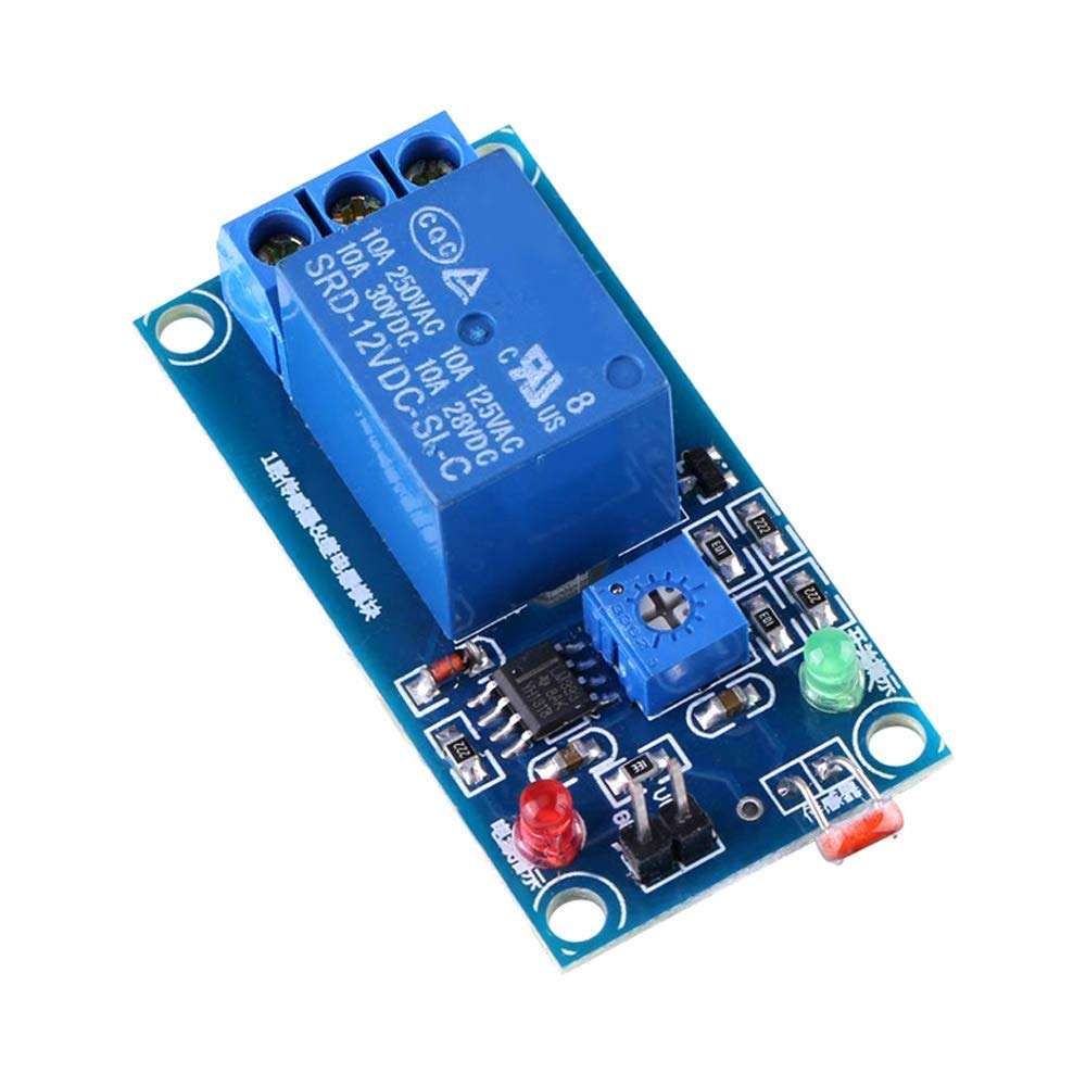 ALLPARTZ 12V Light Photoswitch Sensor Switch LDR Photoresistor Light Detection Switch Relay Module