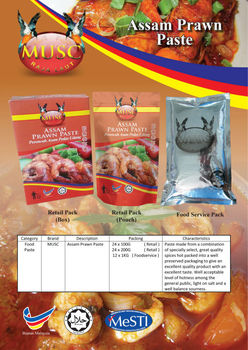 MUSC Assam Prawn Paste