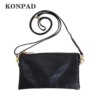 0501d5f48a KS0009 Vegan Leather Small Adjustable Strap Crossbody Bag Wristlet Clutch  Purse with Wrist Straps