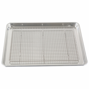 TUV Approved Custom Embossed cookie rack donut baking half sheet pan with great price