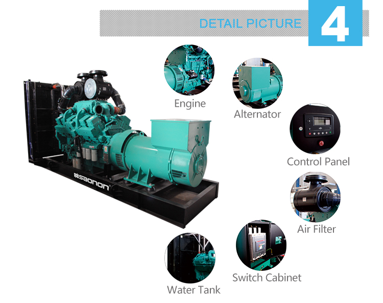 Good price!! water cooled 1125kVA diesel generator engine with reasonable price
