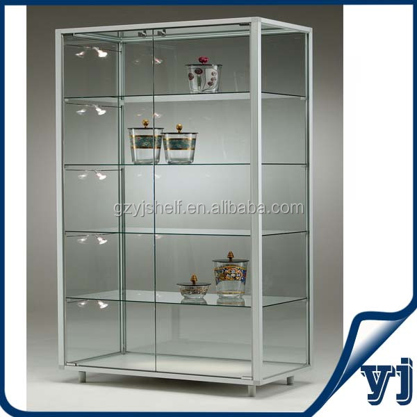 Custom Store Free Standing Lockable Glass Display Cabinet