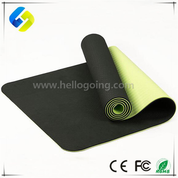 High Quality 2 layer yoga mat tpe 6mm Custom Printed Yoga Mat