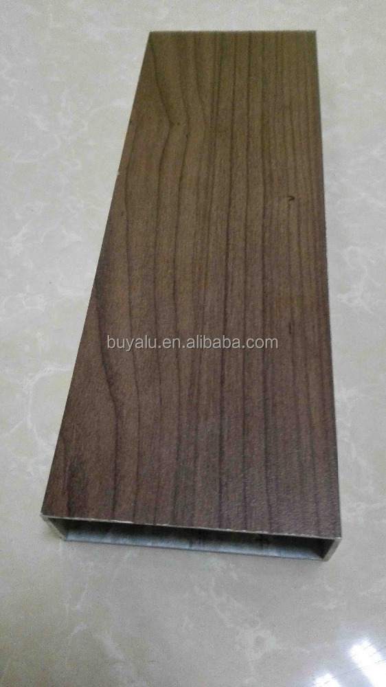 Italy Import Wood Grain Aluminum Profile with Outdoor 10 Years Waranty