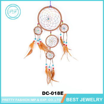 404040cm Diameter 40 Circles Creamcoloured Feather Cherokee Indian Gorgeous Cherokee Indian Dream Catcher