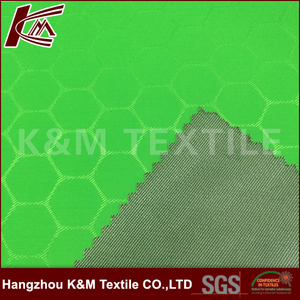 75D Polyester Recovery of yarn Football lattice+PU+20D Polyester tricot fabric