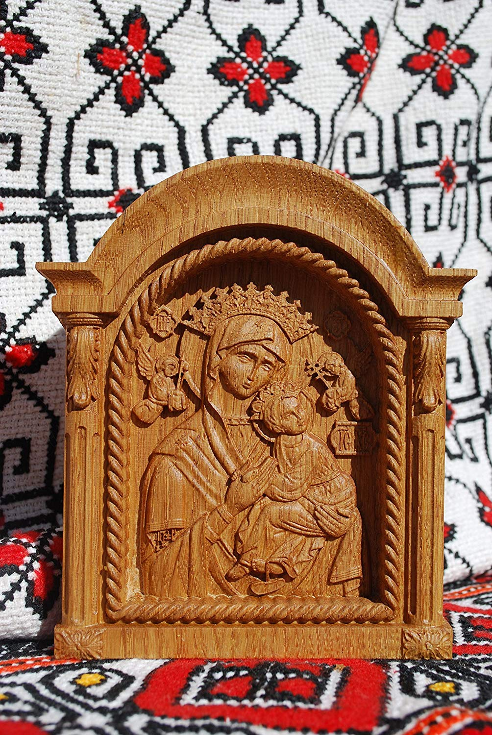 Get Quotations Our Lady Of Perpetual Help Icon Virgin MAry Wood Carving Religious Gifts For Her Birthday