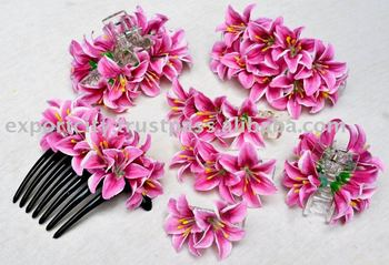 Hyacinth Water Lily Hair Comb Clip Claw